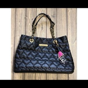 Betsy Johnson black quilted bag